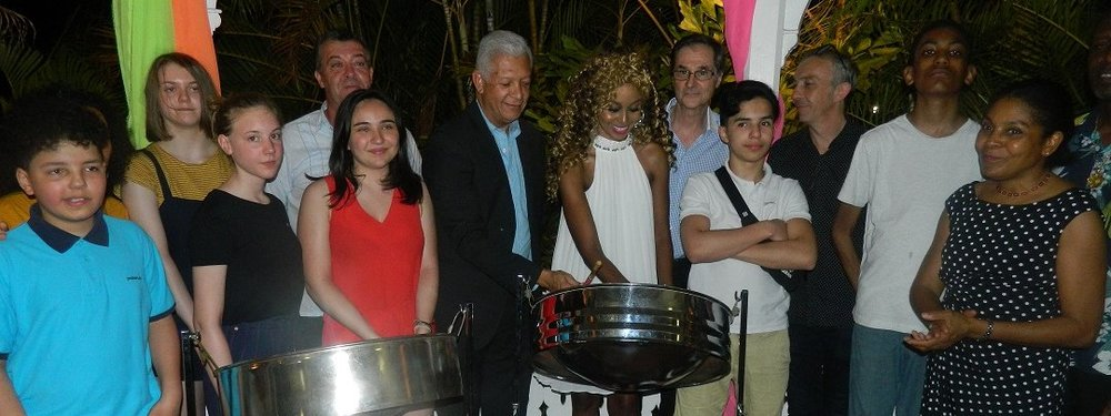French steelband P'tit Pan visits the Embassy