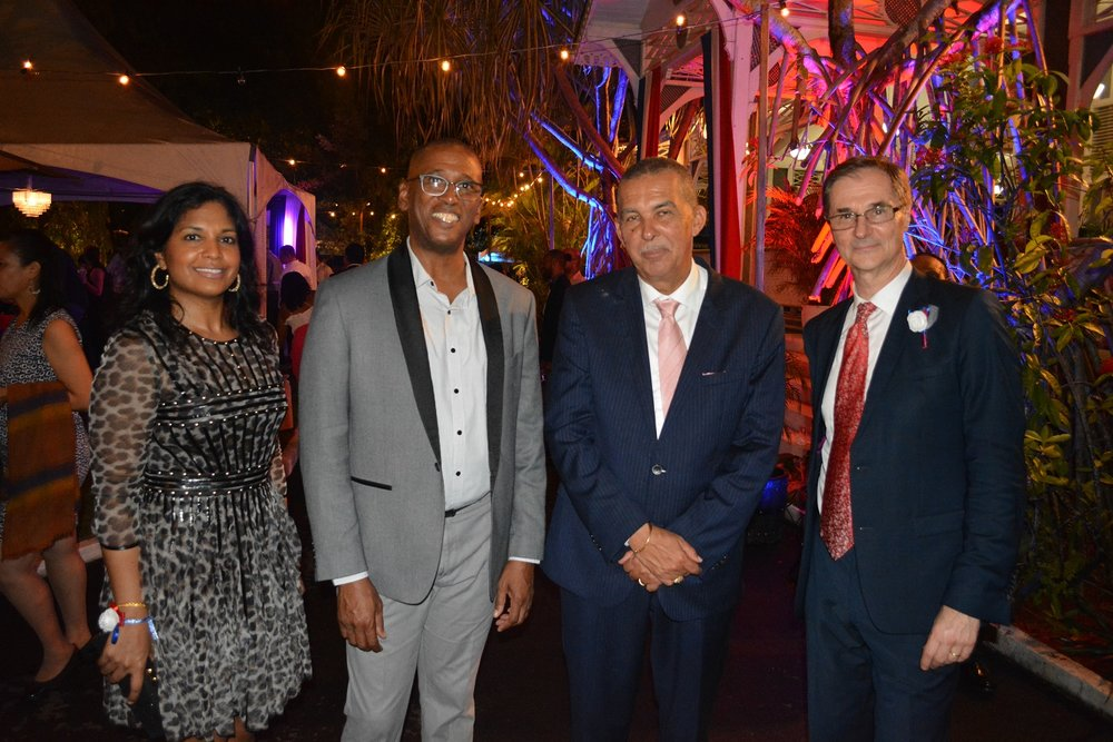 From left to right: Mrs. Reema Carmona, Mr. Ivor Archie, Chief Justice of Trinidad and Tobago, Mr. Anthony Carmona, former President of the Republic of Trinidad and Tobago, Ambassador Serge Lavroff
