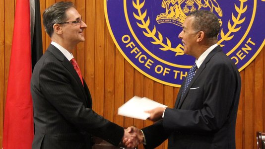 Presentation of credentials by French Ambassador Serge Lavroff